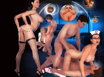 Świat dla dorosłych z interaktywnym seksem 3D